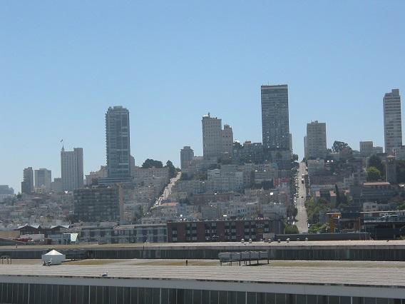 Die Stadt San Francisco vom Norden her fotografiert