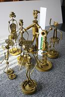 Gruppenfoto der Metall-Figuren Nr. 1 - 7